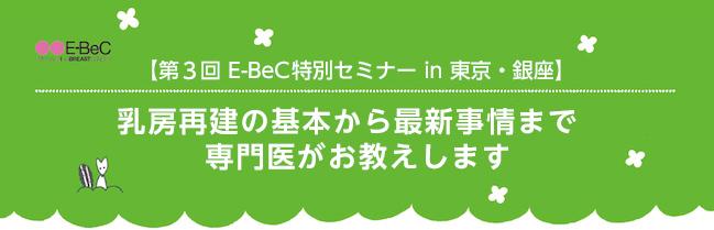 第3回 E-BeC特別セミナー in 東京・銀座
