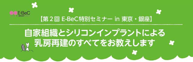 第2回 E-BeC特別セミナー in 東京・銀座